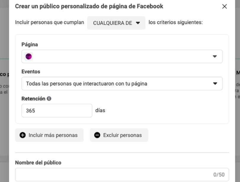 Cómo hacer retargeting en Facebook: público personalizado