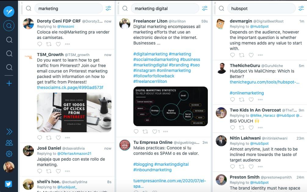Gestor de redes sociales: TweetDeck, gestor para Twitter