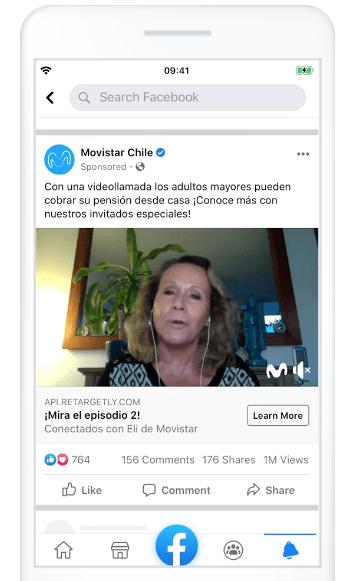 Ejemplo de campaña inbound marketing de Movistar Chile en Facebook