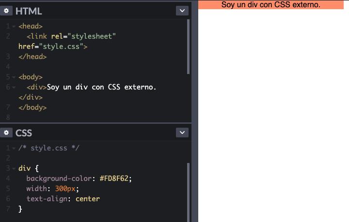 Cómo agregar CSS al código HTML con un CSS externo