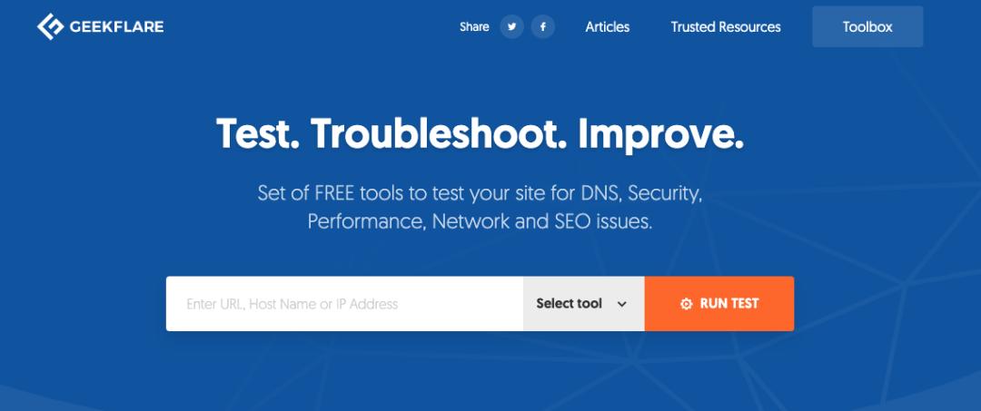 Website Performance Audit, herramienta de GeekFlare para optimizar la velocidad de carga web