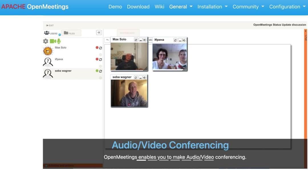 Apache Open Meetings, software para webinars
