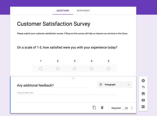 modèle d'enquête google forms