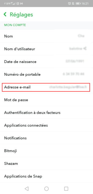 how to add a snapchat pro account email address
