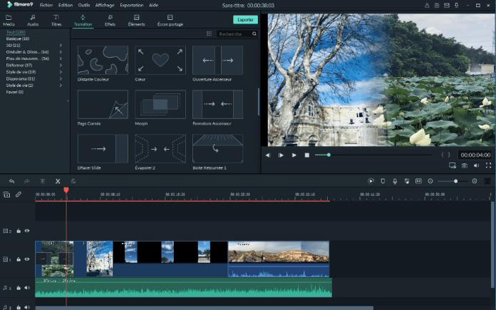 Filmora software