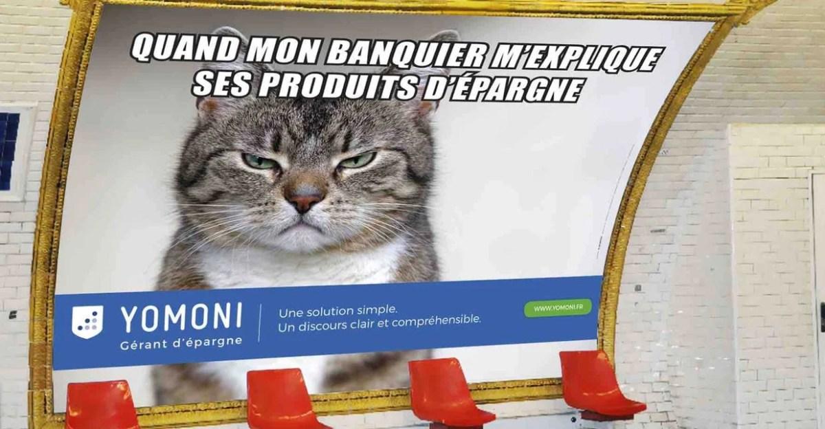 yomoni metro advertising poster