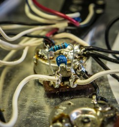 here s what our capacitor looked like when soldered to our volume pot s input and output terminals [ 1920 x 1080 Pixel ]