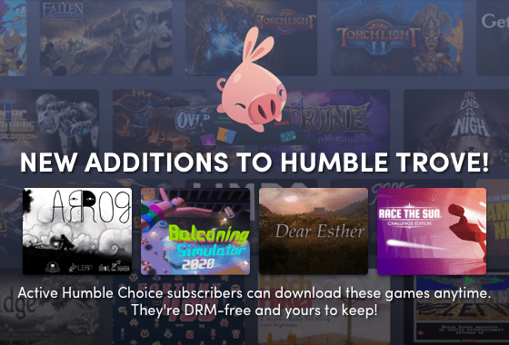 December 2019 Humble Choice Trove game additions