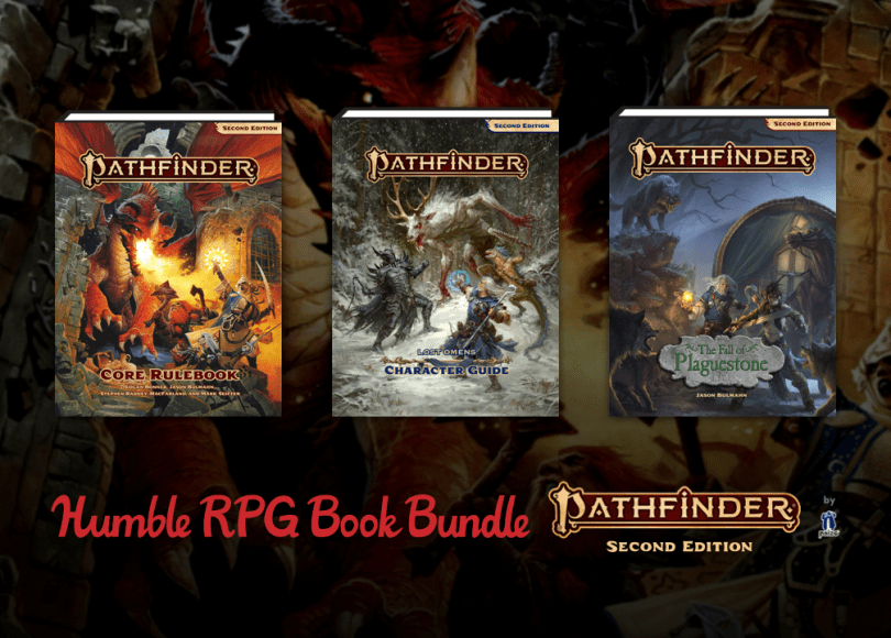 Pathfinder Second Edition Humble Bundle blog header
