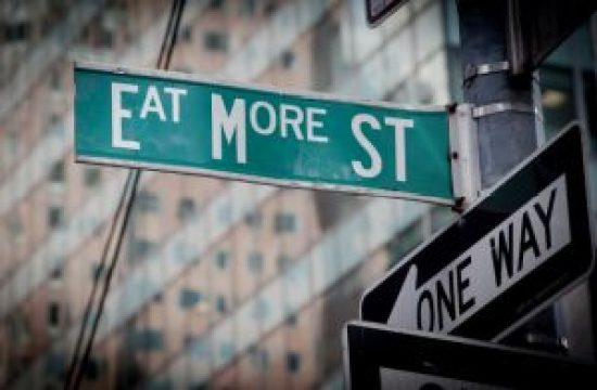 Hungry For Hits street sign