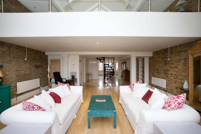 Two bedroom penthouse set in early warehouse conversion in Limehouse, E14