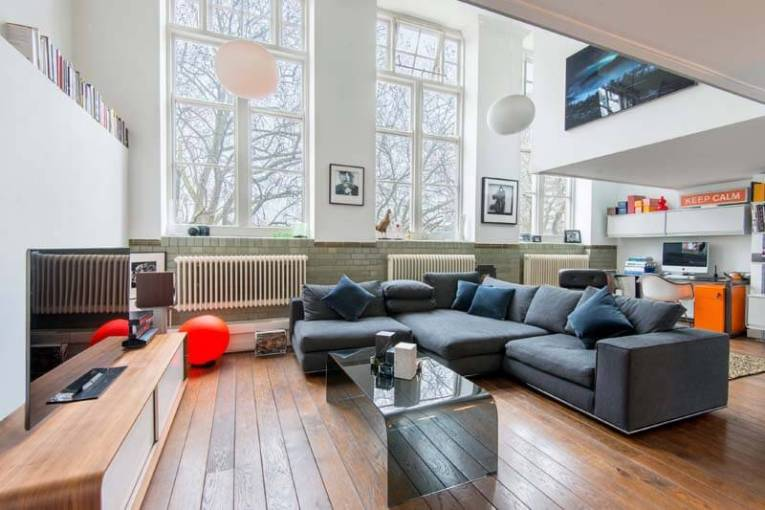 'No running in the hallways' in this sought after Victorian School Conversion in Kingsway Place, EC1