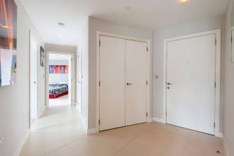 Two bedroom apartment set in distinctive sleek modern development, City Road EC1