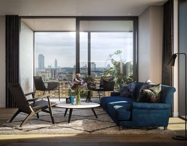 One bedroom apartment in a luxury new apartment block, The Makers, N1