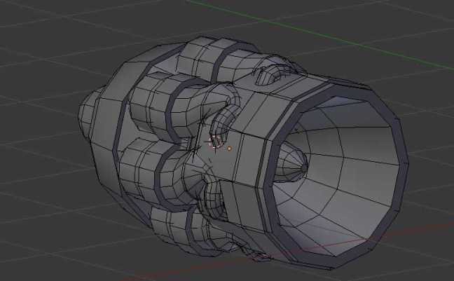 Kitbashing Spaceship : Engine-Kitbashpart-Example