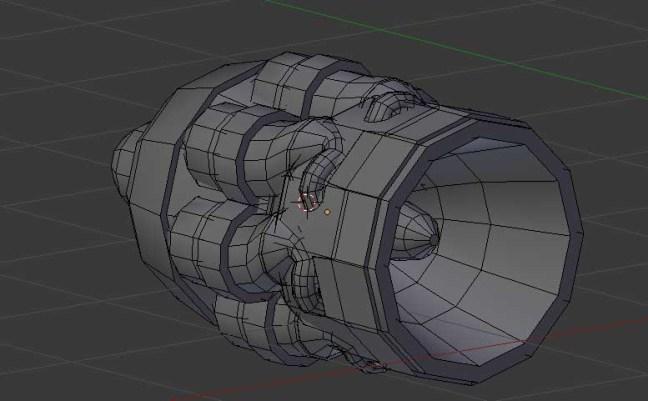 Kitbashing Spaceship : Engine-Kitbashpart-Example