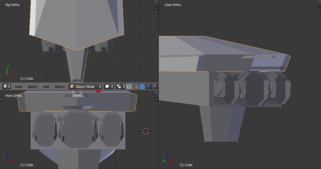 Kitbashing Spaceship Engines Example