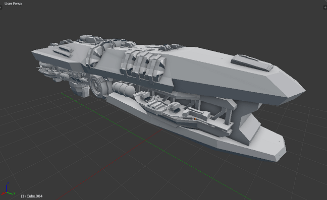 Kitbashing Spaceship : Final Results 01
