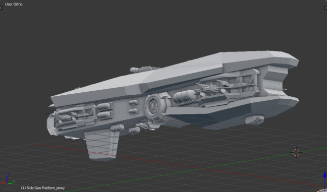 Kitbashing Spaceship : Powercell Placement Example