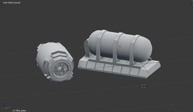 Kitbashing Spaceship : Powercell Samples