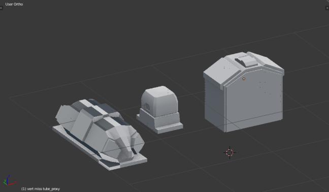 Kitbashing Spaceship : Shield Kitbash Samples
