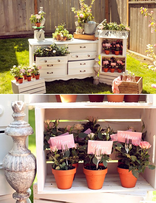 """In Full Bloom"""" A French Baby Shower Hostess With The Mostess®"""