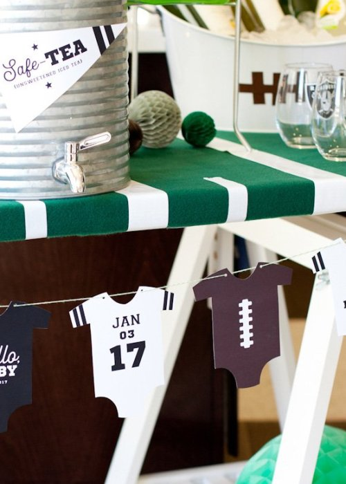 printable football baby shower banner