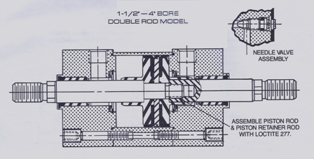 Rexroth Assembly Drawing of Pneumatic Cylinder