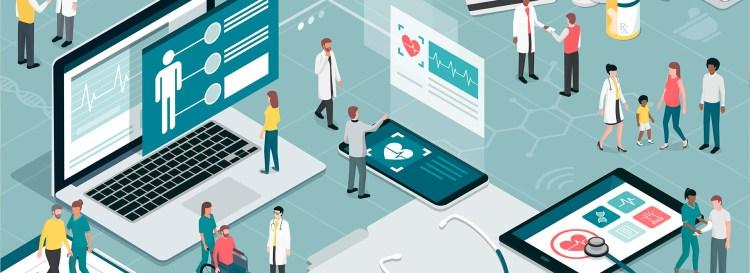 Médicos e pacientes transitam por centro hospitalar com tecnologias para saúde feminina