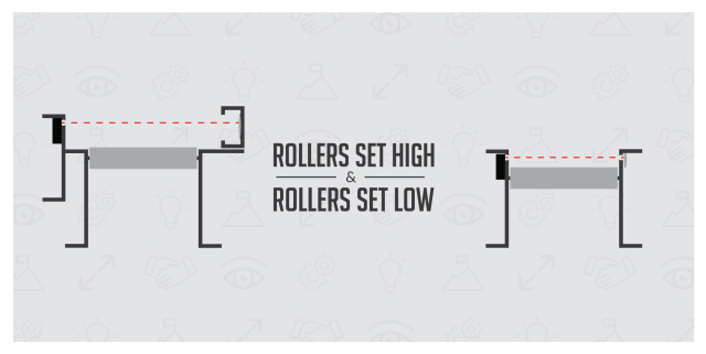 Conveyor Rollers Set High Vs. Low