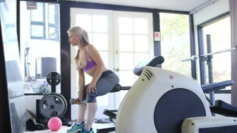 Sarah getting sweaty in Zero Tolerance's 'Big Busty Workout 4'