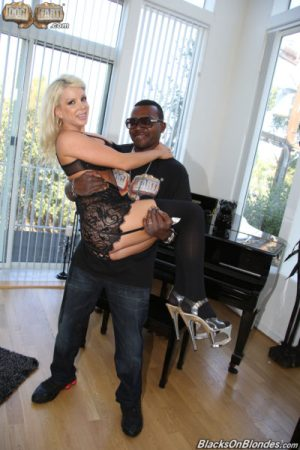 Moe 'The Monster' Johnson with Savannah Stevens in Dogfart's 'Big White Tits and Large Black Dicks 5'