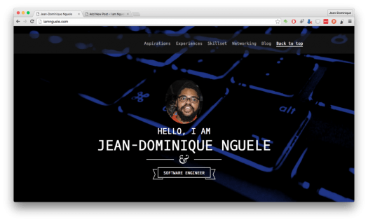 New website page at www.iamnguele.com