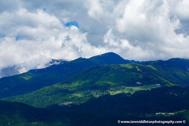 View of Krvavec ski resort in summer, Slovenia.