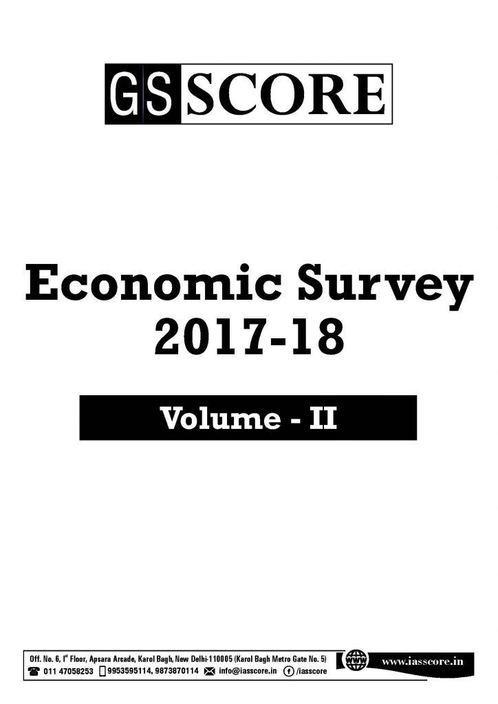 Gist of Economic Survey 2017-2018 Volume 2 for gs mains