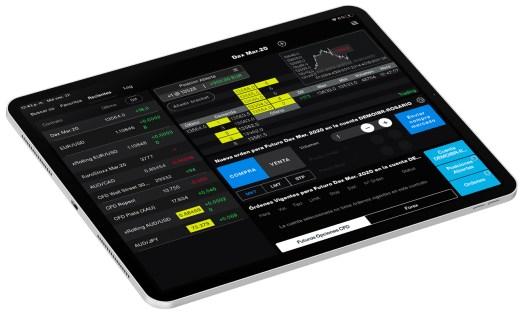 iPad pro con imagen app móvil