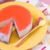 Cheesecake de Sandía Fitness. Receta Sin Horno