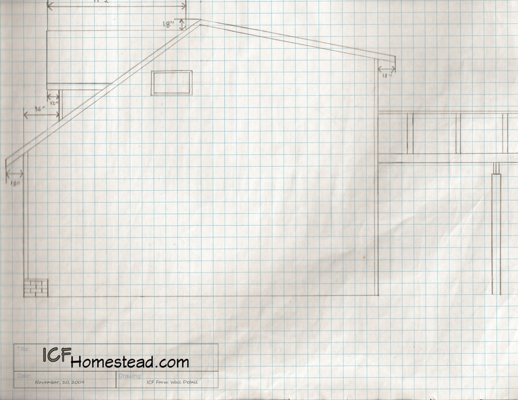 Hand drawn construction blueprints icf homestead hand drawn blueprints rebar garage house icf homestead icf off the grid malvernweather Gallery