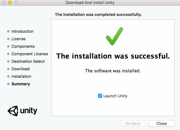 unity 安裝成功
