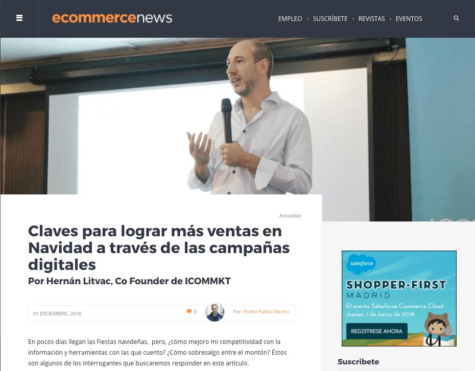 ecommerce news españa ICOMMKT