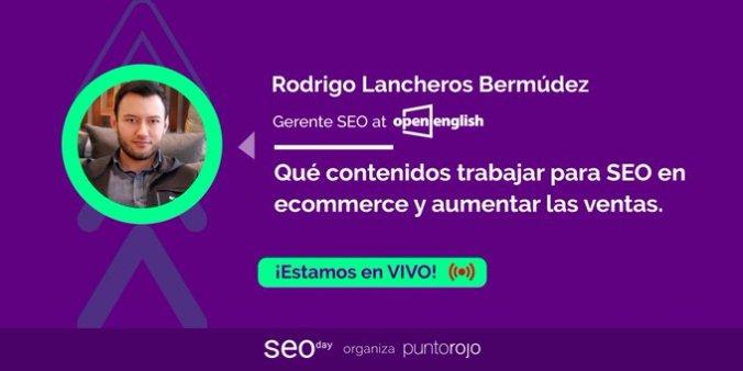 Rodrigo Lancheros en SEO Day