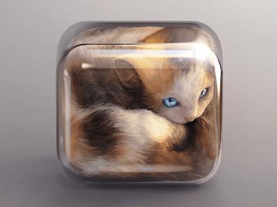 https://dribbble.com/shots/1375619-Kitten-Icon