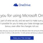 OneDriveの無償15GBを維持するなら、1月31日までに!