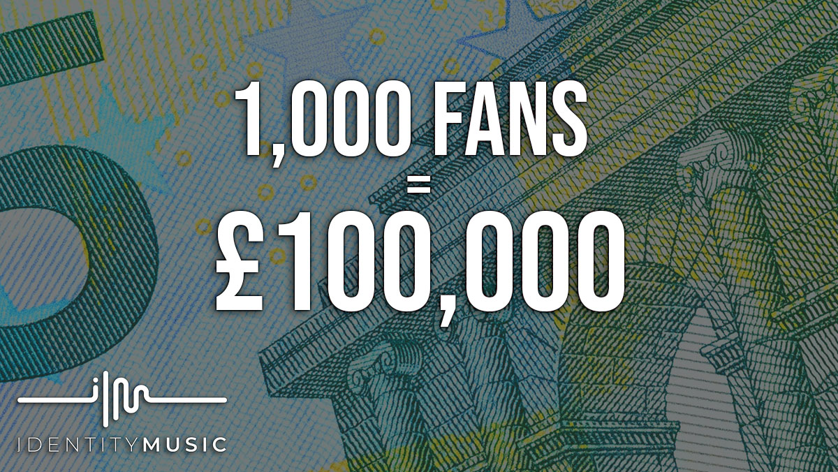 1,000 fans = £100,000 a year.