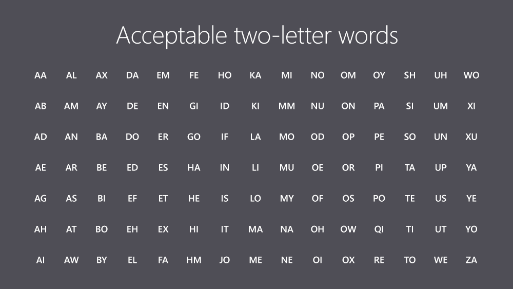 Two Letter Words Scrabble Dictionary Creativeletter