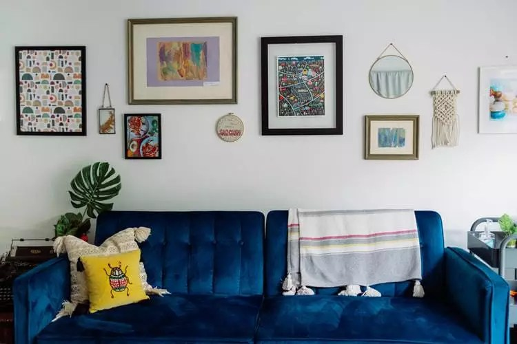 sofa-azul-sala-estilo-ecletico