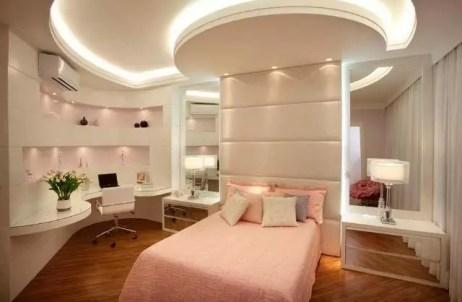 quarto rosa iluminação led