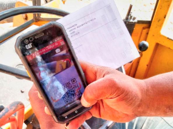 QR Code e Survey123 no carregamento de minério - imagem 2