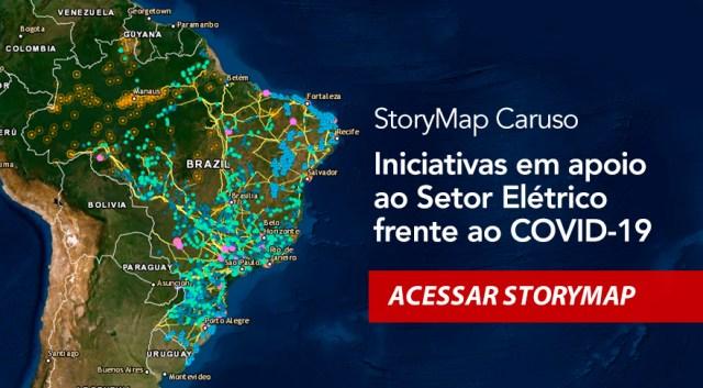 StoryMap CARUSO - Apoio ao setor elétrico frente ao COVID-19
