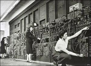 Mujeres trabajando con la máquina Eniac